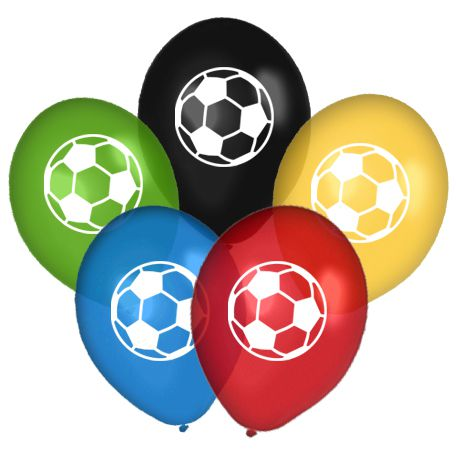 Assorted Colour Football Balloons - Pack of 10 - 10""