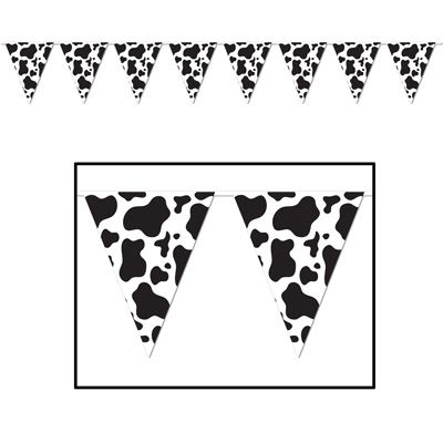 Cow Print Bunting - 3.66m