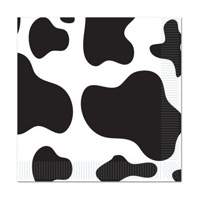 Cow Print Luncheon Napkins - 2-Ply - Pack of 16