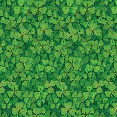 St. Patrick's Day Irish Clover Field Backdrop - 9.14m