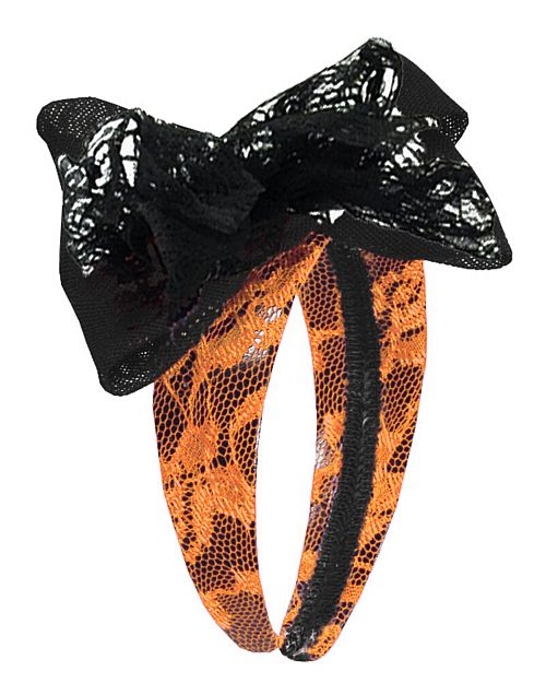 80's Orange Lace Hairband