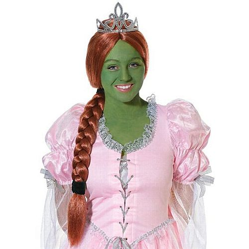 Princess Fiona Wig With Tiara