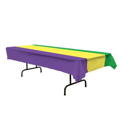 Click to view product details and reviews for Plastic Mardi Gras Tablecloth 274m.