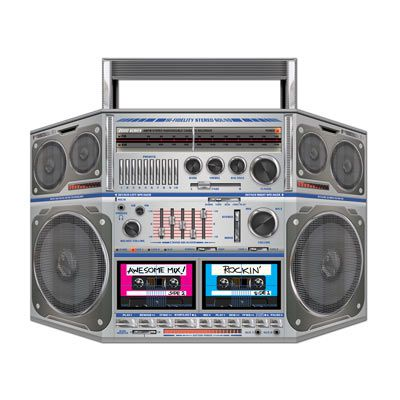 Boom Box Stand-In Photo Prop - 94cm