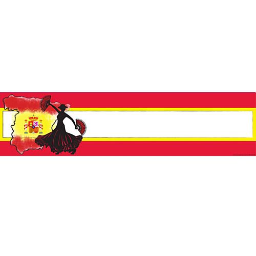 Spanish Themed Banner - 120 x 30cm