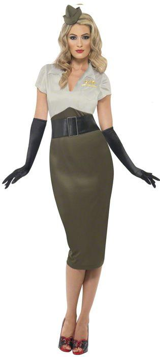 WWII Army Pin Up Spice Darling Costume