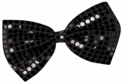 Black Glitz 'n' Gleam Bow Tie - 17.8cm