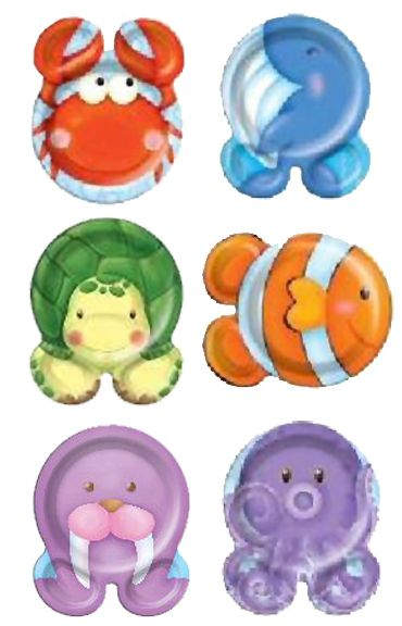 Sealife Animal Shaped Plates - Pack of 12