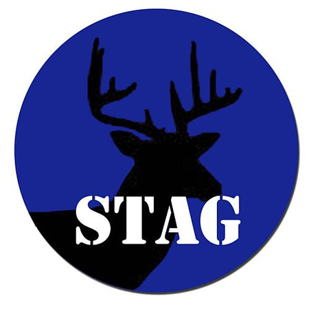 Stag Night Badge 58mm Pinned Back Each