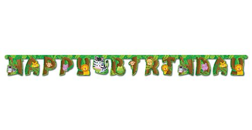 Jungle Safari Party Letter Banner - 2.4m