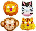 Jungle Safari Party Masks - Pack of 8