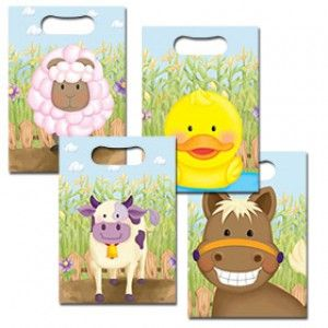 Farm Animals Party Bags - Pack of 10