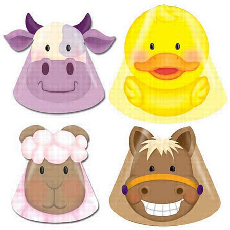 Click to view product details and reviews for Farmyard Party Hats Assorted Pack Of 8.