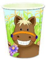 Farmyard Party Cups - Assorted - Pack of 8