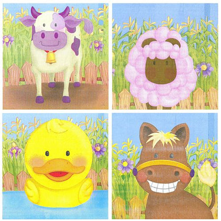 Farmyard Party Napkins - 33cm - Pack of 20