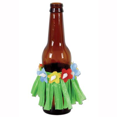 Drink Hula Skirts - 8.9cm - Assorted Colours - Pack of 4