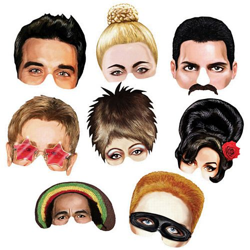 Musical Icons Masks - Assorted - Pack of 8