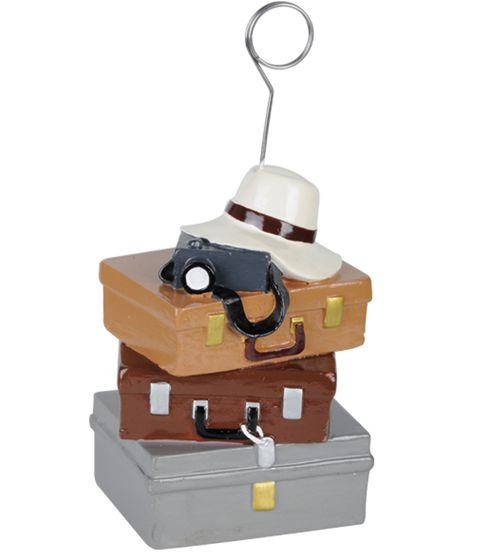 Suitcase Photo/Balloon Holder 6oz