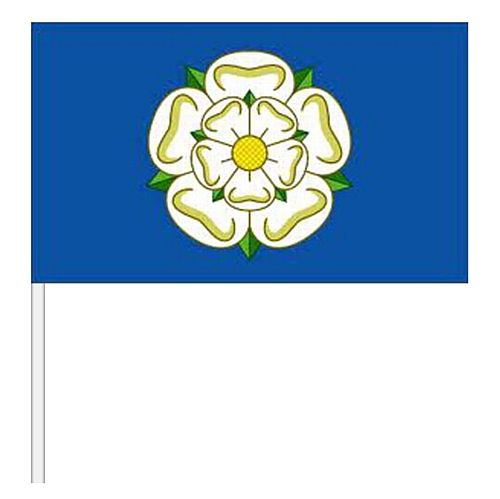 "Yorkshire Rose Small Cloth Hand Flag - 9"" x 6"""
