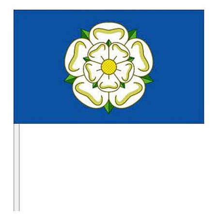 Yorkshire Rose Small Cloth Hand Flag - 9