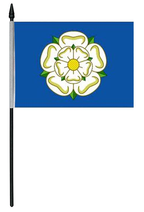 "Yorkshire Rose Cloth Table Flag - 4"" x 6"""