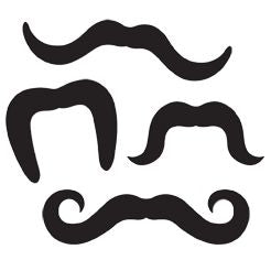 Printed Moustaches - Assorted Designs - Pack of 4