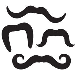 Click to view product details and reviews for Printed Moustaches Assorted Designs Pack Of 4.