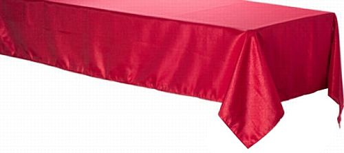Red Foil Plastic Tablecloth - 2.75m