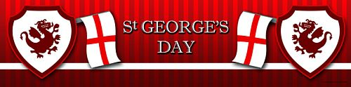 Red St. George's Day Banner
