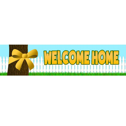 Welcome Home Tree Banner