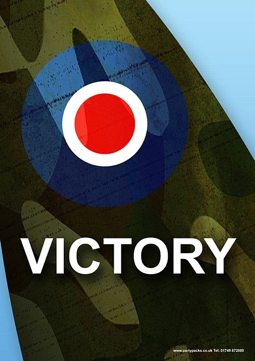 Victory Spitfire Poster - A3