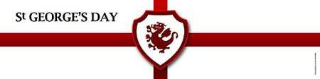 St. George's Day England Flag Banner