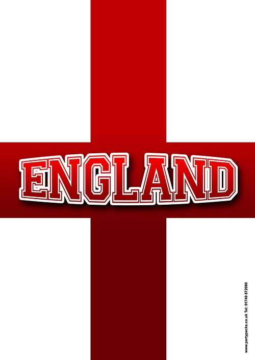 England Cross Poster - A3