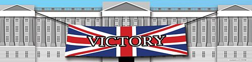 Victory Buckingham Palace Banner