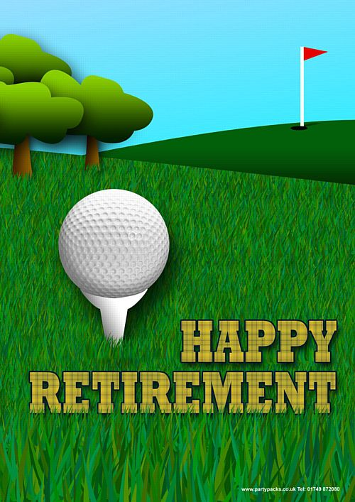 Retirement Golf Themed Poster - A3