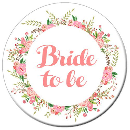 Click to view product details and reviews for Boho Flowers Bride To Be Badge 58mm Each.