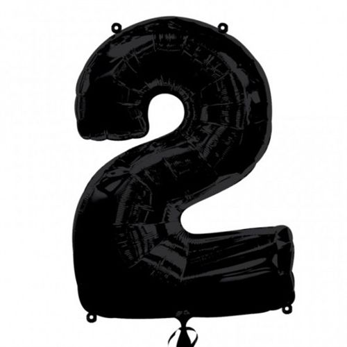 Black Number 2 Foil Balloon - 35""