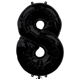 Black Number 8 Foil Balloon - 35""