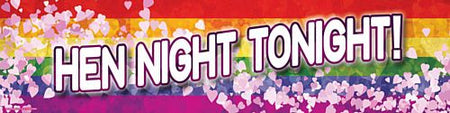 Click to view product details and reviews for Rainbow Hen Night Banner 120cm X 297 Cm.