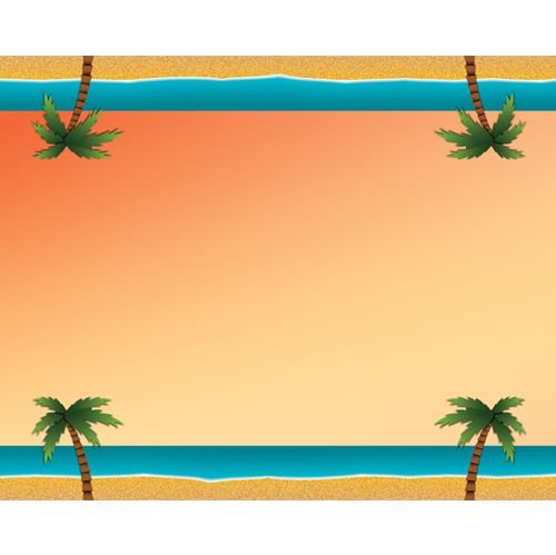 Carribean Sunset Paper Table Runner - 120cm x 30cm