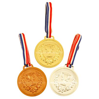 Gold, Silver & Bronze Medals - 6cm- Pack of 3