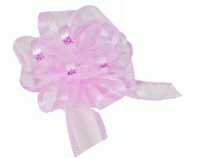 Light Pink Premium Quality Organza Pullbows - 50mm