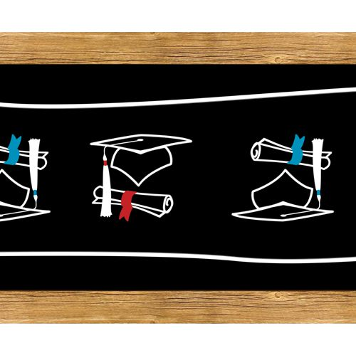 Graduation Congratulations School Chalk Paper Table Runner - 120 x 30cm