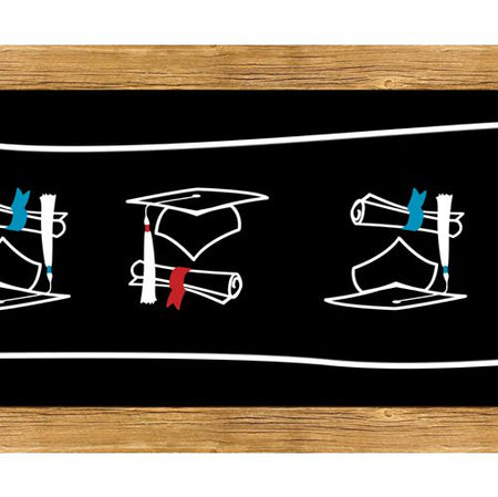 Click to view product details and reviews for Graduation Congratulations School Chalk Paper Table Runner 120 X 30cm.