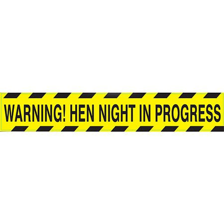 Click to view product details and reviews for Hen Night Warning Party Tape 13m.