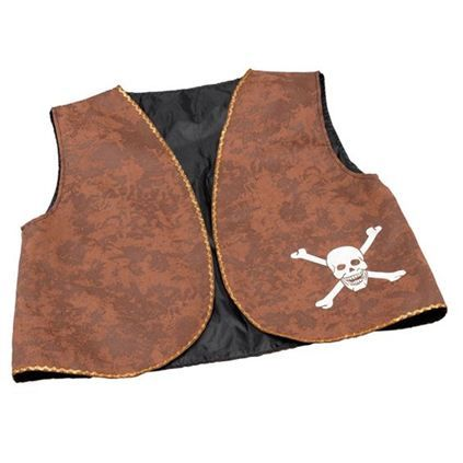 Brown Distressed Effect Pirate Waistcoat