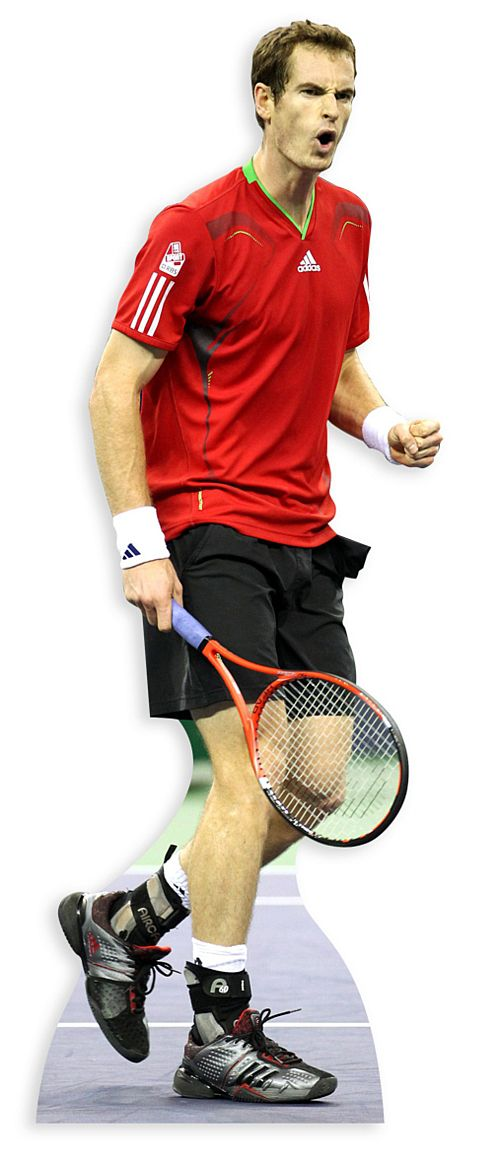 Andy Murray Lifesize Cardboard Cutout - 1.86m