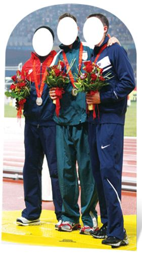 Olympic Medal Winners Photo Stand-In - 1.76m