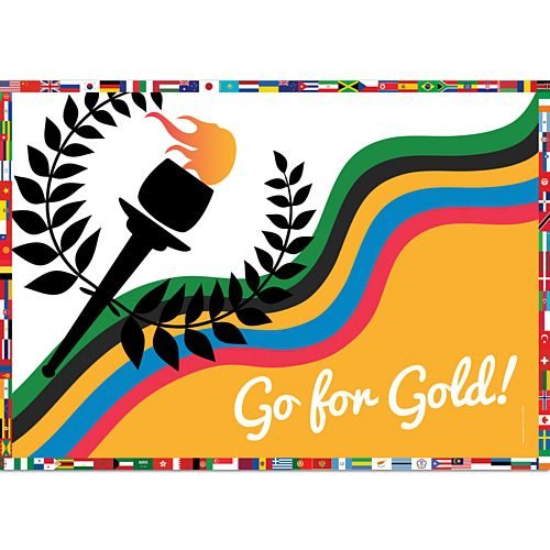 Gold for Gold Summer Olympics Poster - A3