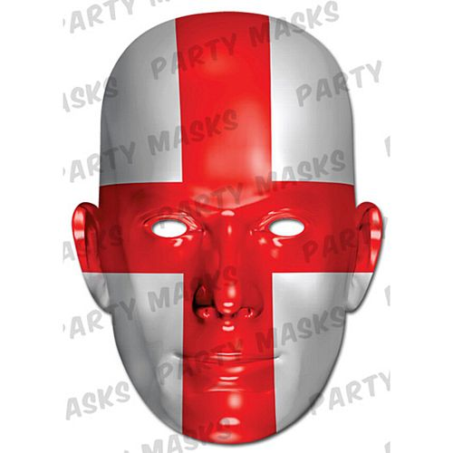 England St George's International Flag Masks Card Mask
